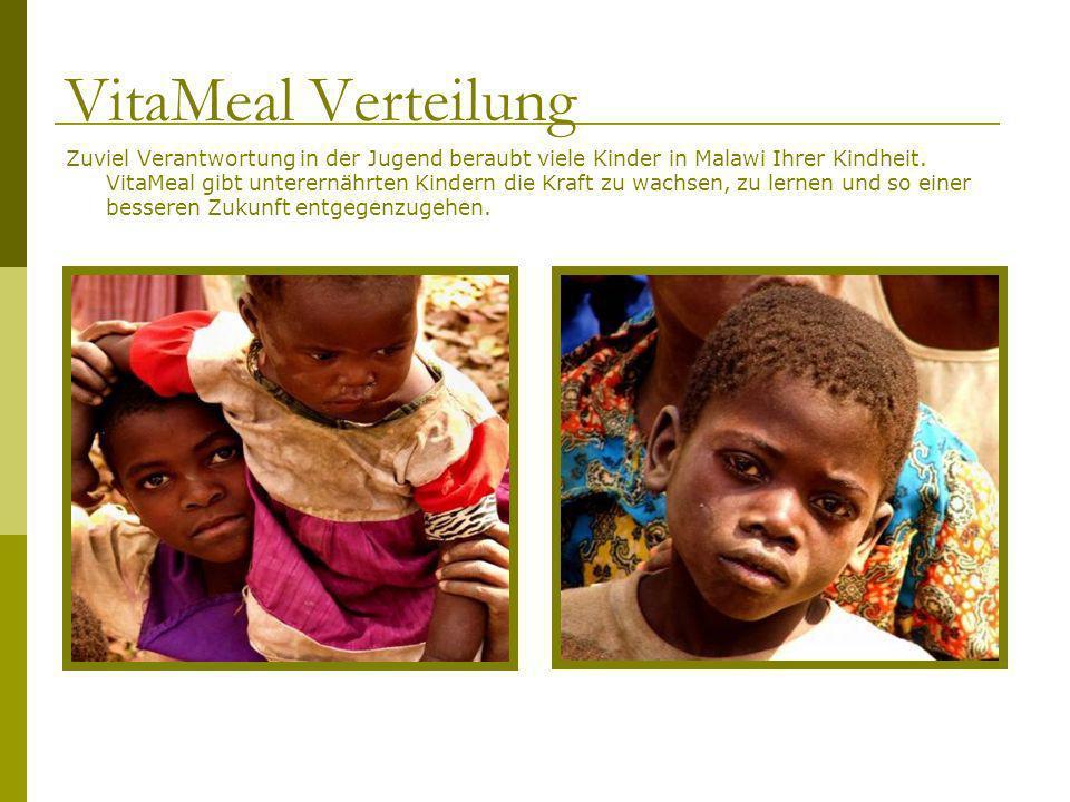 Zuviel Verantwortung in der Jugend beraubt viele Kinder in Malawi Ihrer Kindheit. VitaMeal gibt unterernährten Kindern die Kraft zu wachsen, zu lernen