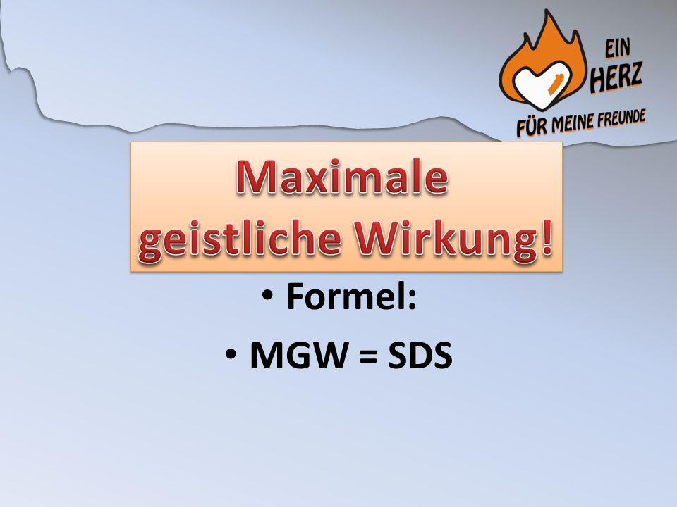 Formel: MGW = SDS