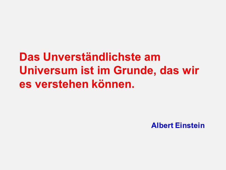 Das Unverständlichste am Universum ist im Grunde, das wir es verstehen können. Albert Einstein