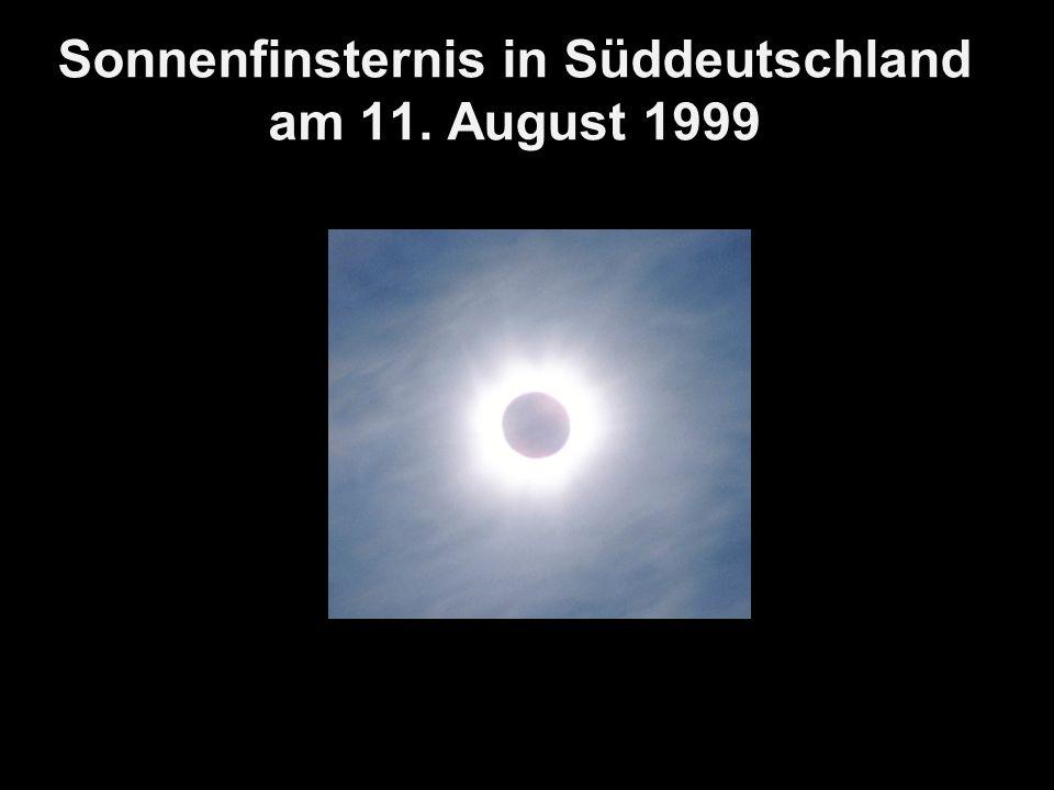 Sonnenfinsternis in Süddeutschland am 11. August 1999