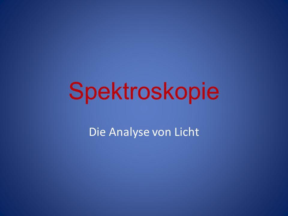 Spektroskopie Die Analyse von Licht