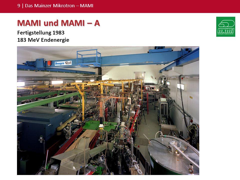 10 | Das Mainzer Mikrotron – MAMI MAMI – B Größtes jemals gebautes Mikrotron: 450 Tonnen Gewicht.