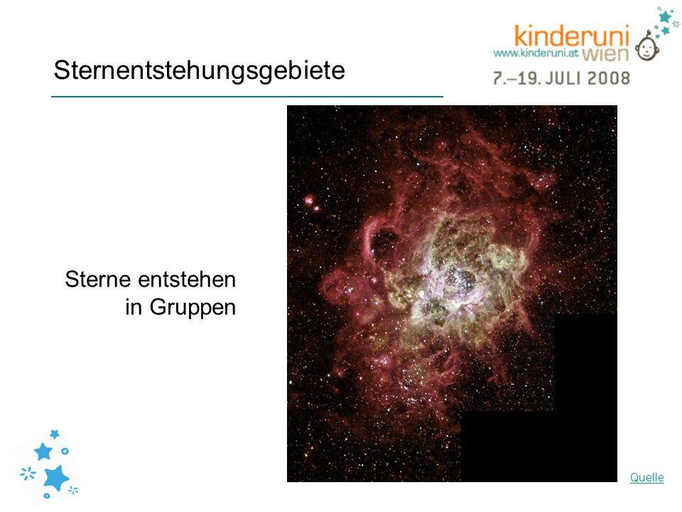 Sternentstehungsgebiete NGC604 Quelle Sterne entstehen in Gruppen