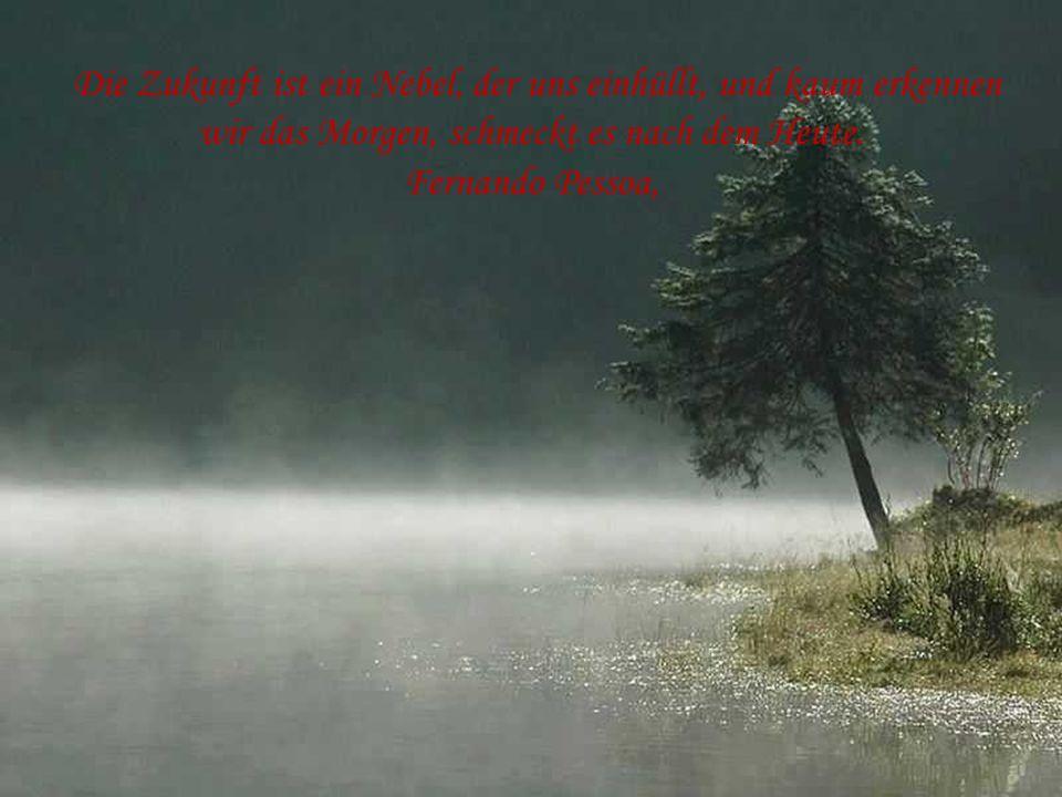 D ie Zukunft ist ein Nebel, der uns einhüllt, und kaum erkennen wir das Morgen, schmeckt es nach dem Heute.