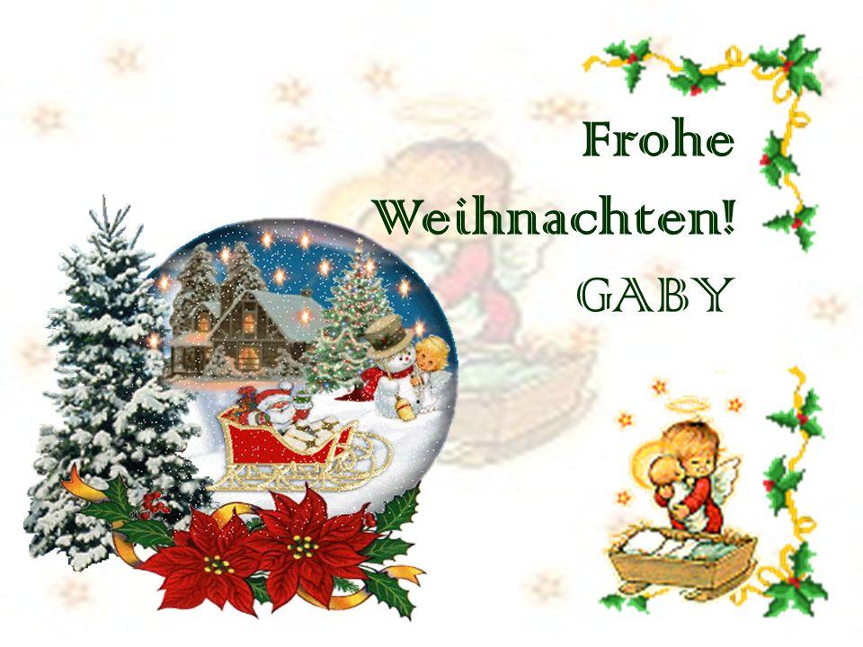 Frohe Weihnachten! GABY