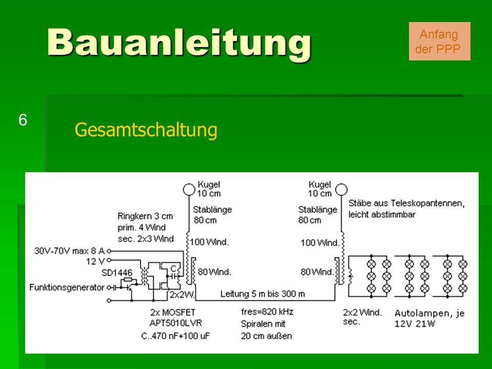 Gesamtschaltung Bauanleitung 6 Anfang der PPP