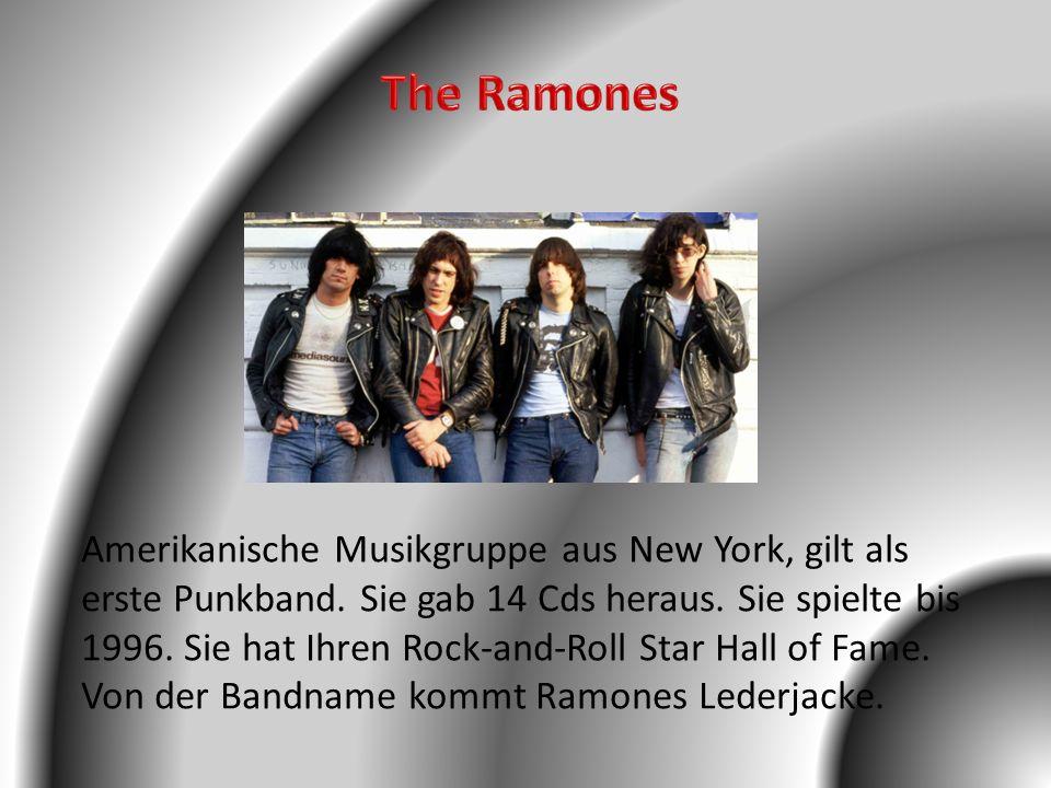 Amerikanische Musikgruppe aus New York, gilt als erste Punkband. Sie gab 14 Cds heraus. Sie spielte bis 1996. Sie hat Ihren Rock-and-Roll Star Hall of