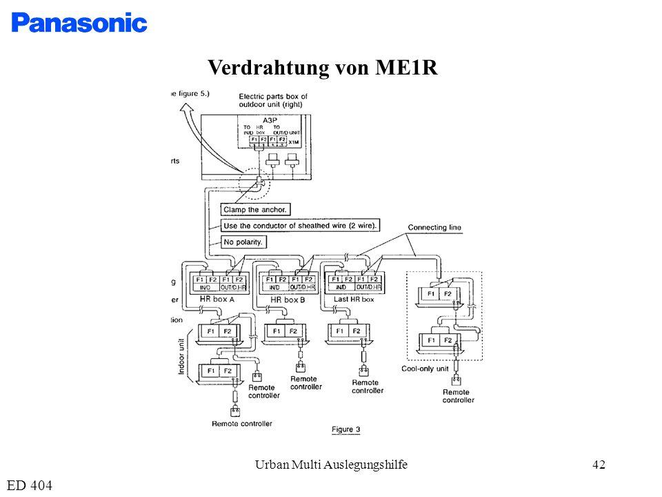 Urban Multi Auslegungshilfe42 Verdrahtung von ME1R ED 404