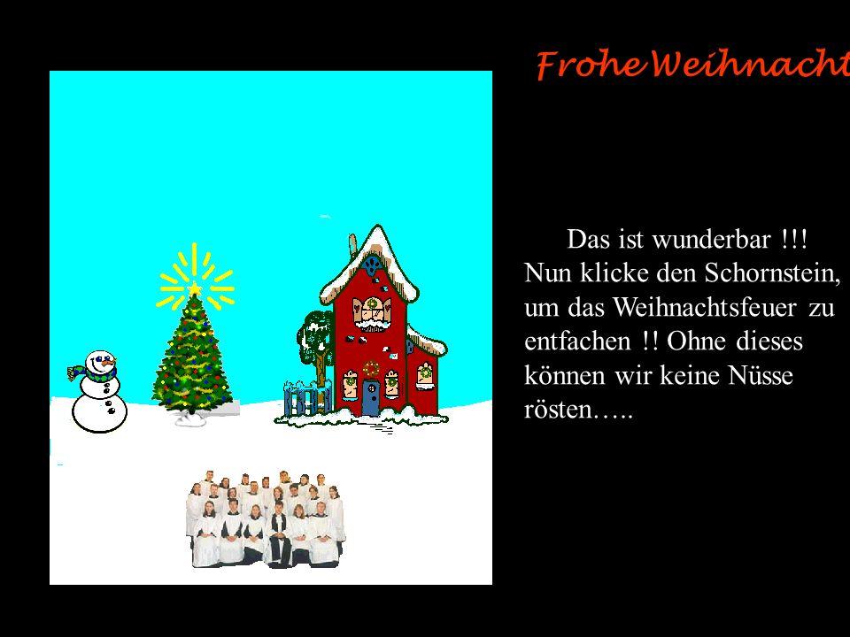 Frohe Weihnachten Das ist der Geist des Weihnachtsfestes. Nun klicke den Baum, um die Lichter anzuzünden..