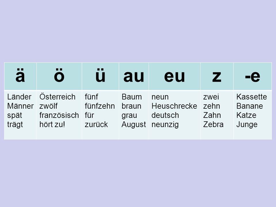 äöüaueuz-e Länder Männer spät trägt Österreich zwölf französisch hört zu.