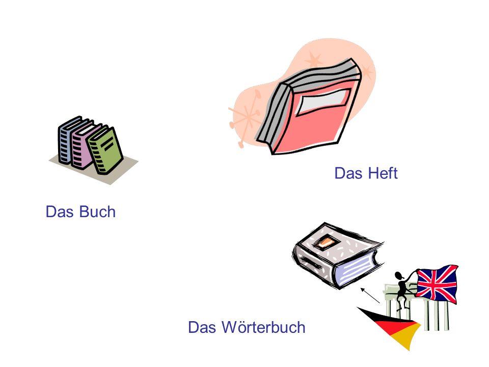 Das Buch Das Heft Das Wörterbuch