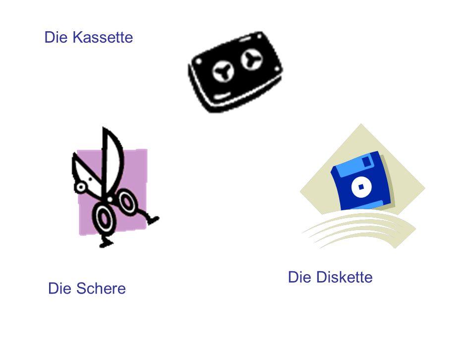 Die Schere Die Kassette Die Diskette