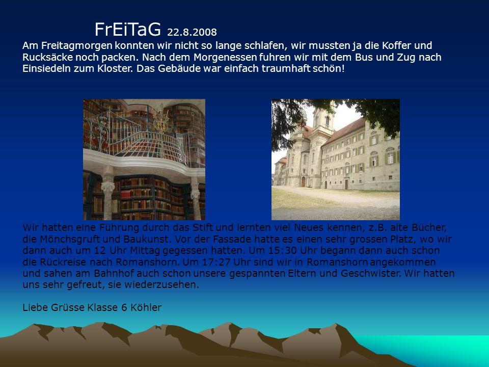 Das grösste Glockenspiel der Schweiz hörten wir leider wegen zehn Minuten nicht spielen.