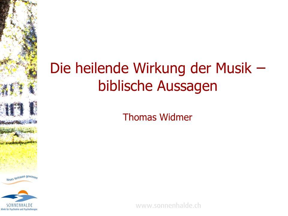 Musik: Weltsprache, die das Herz erreicht Gott als Schöpfer der Musik und der Stimmorgane