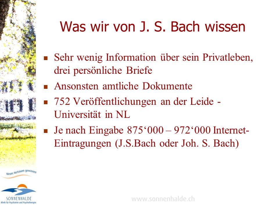 Bachs berufliche Lebensstationen 1685 – 1695 Kindheit in Eisenach 1695 – 1700 Ohrdruf, Lyzeum bis Prima, Chorsänger 1700 – 1703 Lüneburg und Weimar, Schulabschluss 1703 – 1707 Arnstadt, 1.
