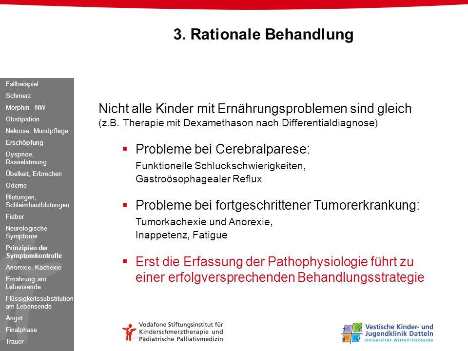 Nicht alle Kinder mit Ernährungsproblemen sind gleich (z.B. Therapie mit Dexamethason nach Differentialdiagnose) Probleme bei Cerebralparese: Funktion
