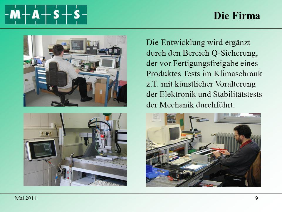 Mai 201120 2007-10 : Entwicklung/Lieferung von > 300 Stück Industrie- PCs mit 19/4HE Gehäusen und einer Tiefe von nur 400mm zum Einsatz in Schwenkrahmen.