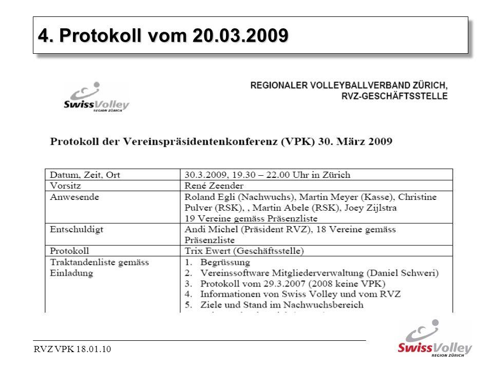 4. Protokoll vom 20.03.2009 RVZ VPK 18.01.10