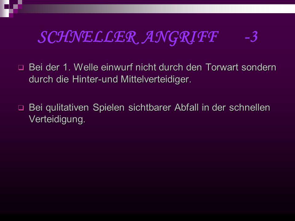 SCHNELLER ANGRIFF -3 Bei der 1.