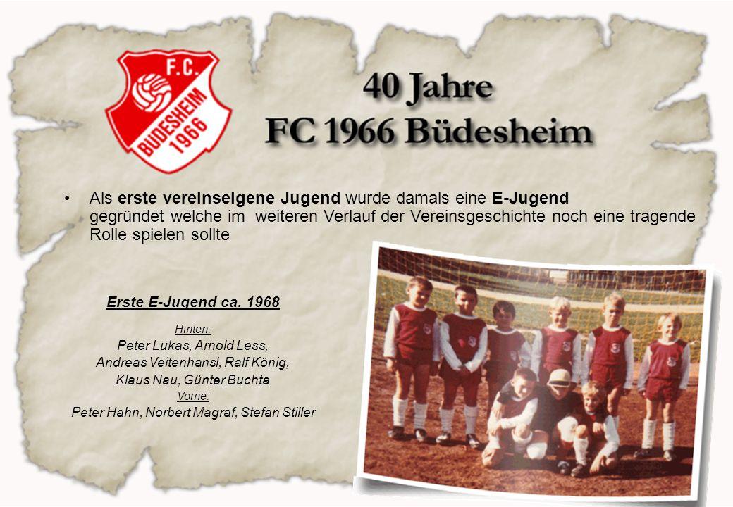 Als erste vereinseigene Jugend wurde damals eine E-Jugend gegründet welche im weiteren Verlauf der Vereinsgeschichte noch eine tragende Rolle spielen