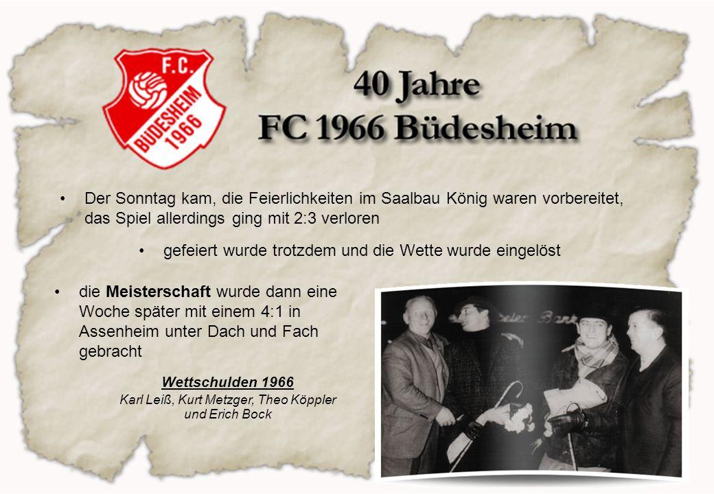 Die Punktrunde 67/68 wurde mit der Aufstiegsmannschaft gespielt und die Klasse konnte nur unter großen Anstrengungen gehalten werden Gründer- u.