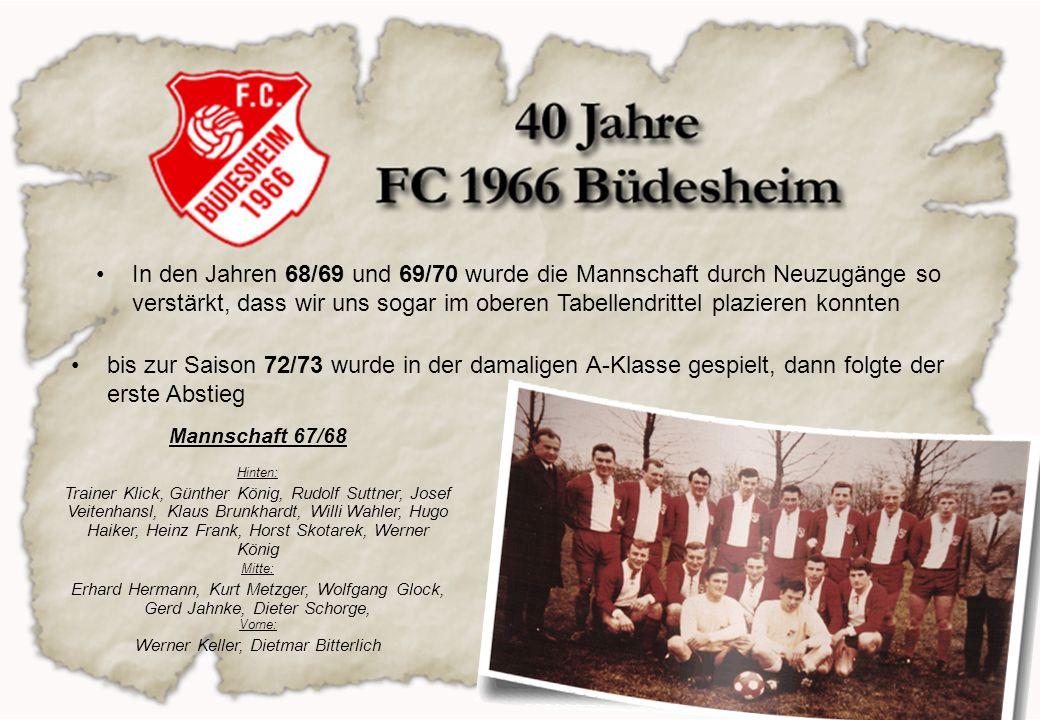 In den folgenden Jahren setzten unsere Jugendmannschaften die Glanzpunkte 71/72 konnte die damalige A-Jugend als 1.