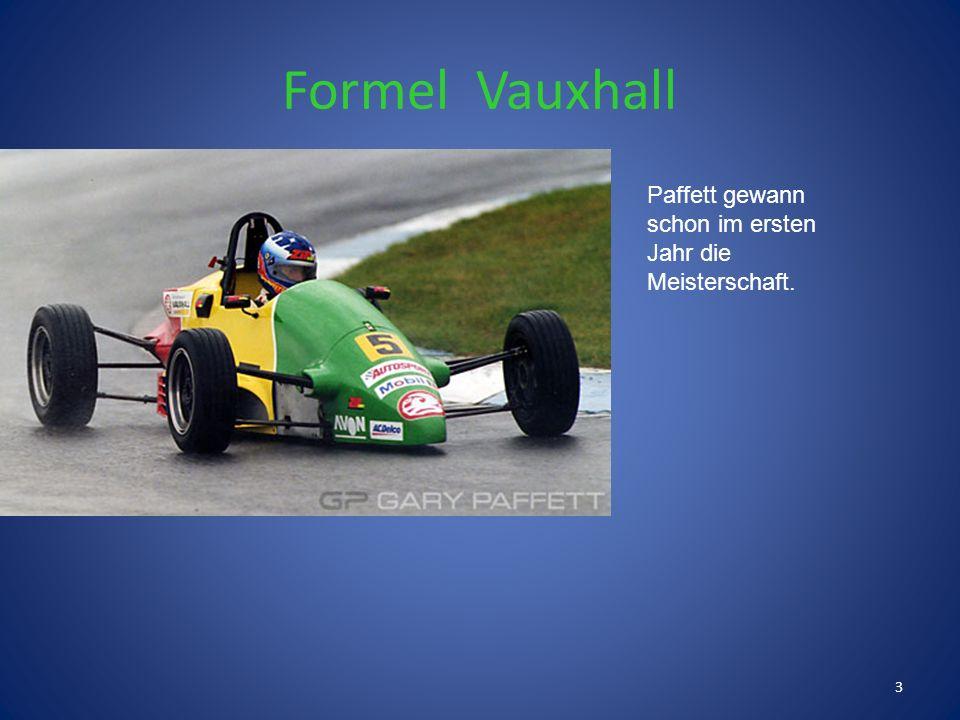 Gary Paffett entwickelte schon sehr früh grosse Leidenschaft für den Motorsport, indem er seinem Vater bei Clubrennen zusah. Im Alter von 9 Jahren hol