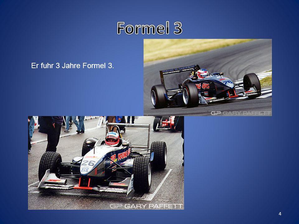 Formel Vauxhall Paffett gewann schon im ersten Jahr die Meisterschaft. 3