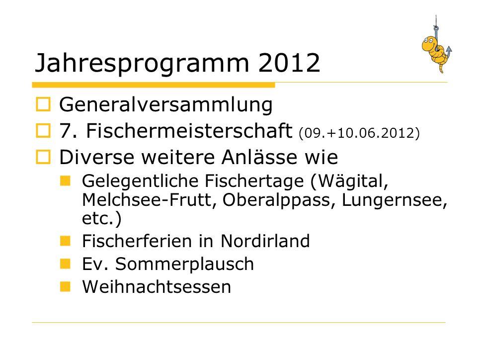 Jahresprogramm 2012 Generalversammlung 7.