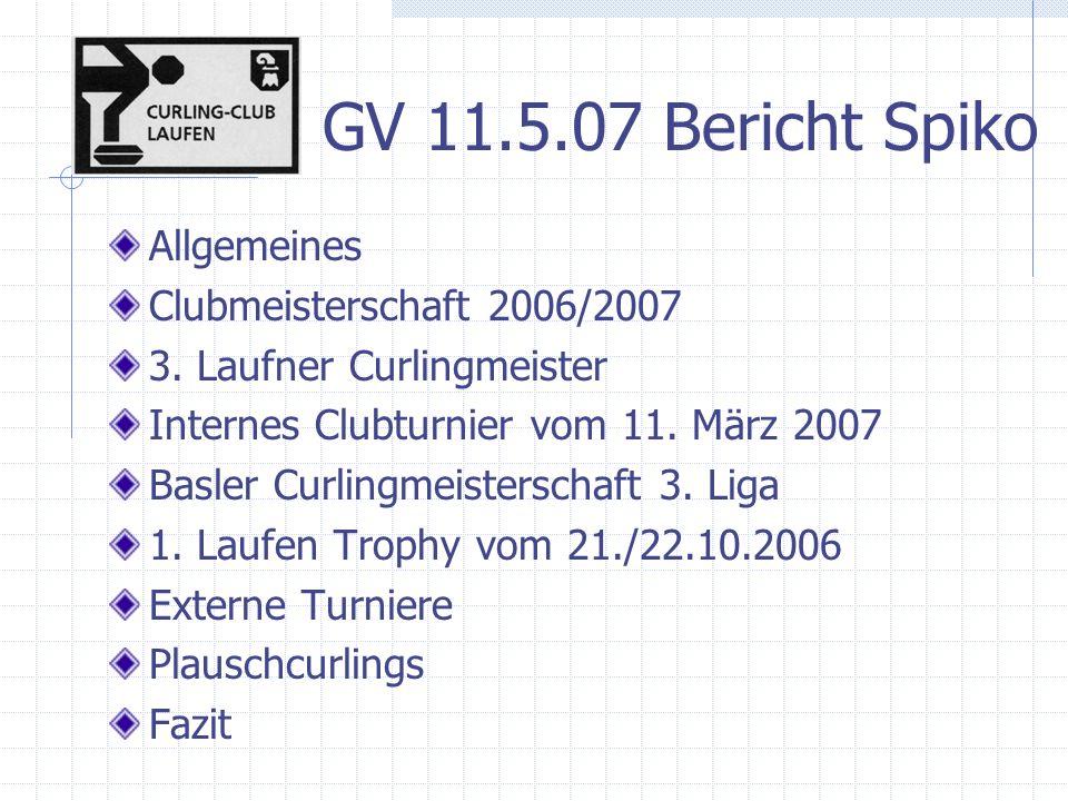 3.Curlingmeister 1 3. Laufner Curlingmeister als Wettbewerb für Einzelspieler in 2 Runden 13.
