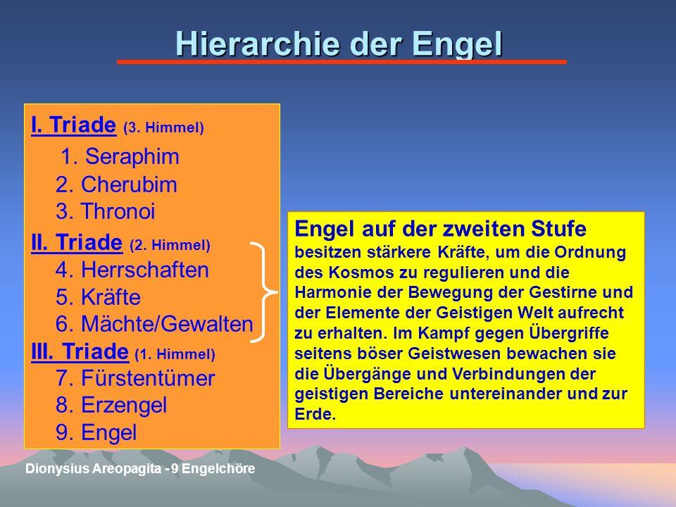 Hierarchie der Engel I.Triade (3. Himmel) 1. Seraphim 2.