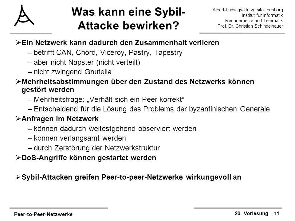 Peer-to-Peer-Netzwerke 20.