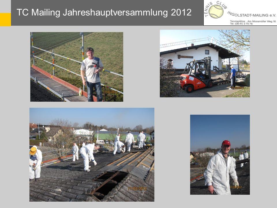 TC Mailing Jahreshauptversammlung 2012