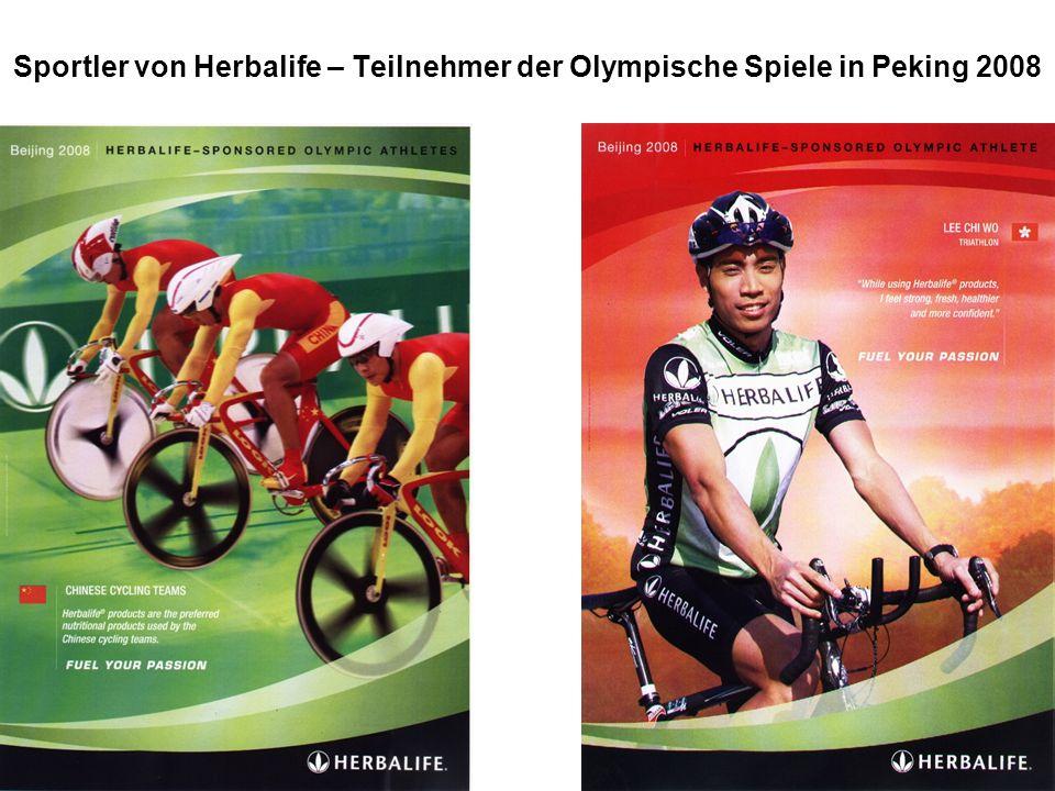 Wer verliert – gewinnt! Sportler von Herbalife – Teilnehmer der Olympische Spiele in Peking 2008
