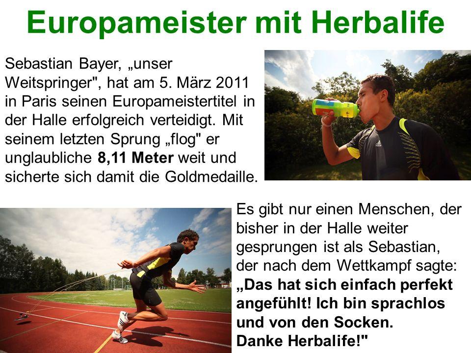 Wer verliert – gewinnt! Europameister mit Herbalife Sebastian Bayer, unser Weitspringer