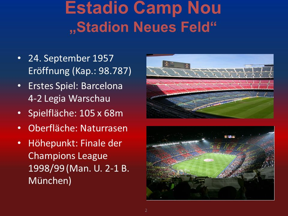 Estadio Camp Nou Stadion Neues Feld 24.