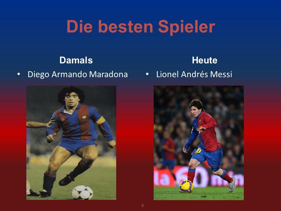 Die besten Spieler Damals Diego Armando Maradona Heute Lionel Andrés Messi 4