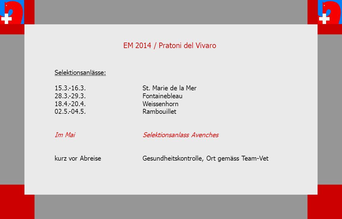 EM 2014 / Pratoni del Vivaro Selektionsanlässe: 15.3.-16.3.