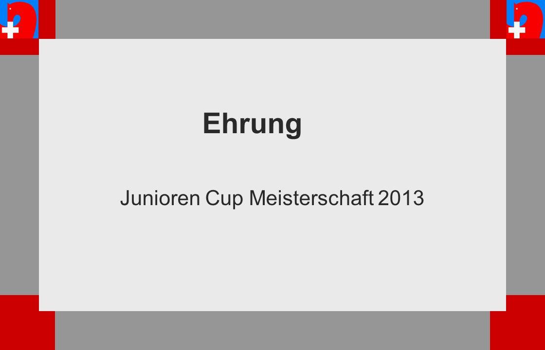 Ehrung Junioren Cup Meisterschaft 2013