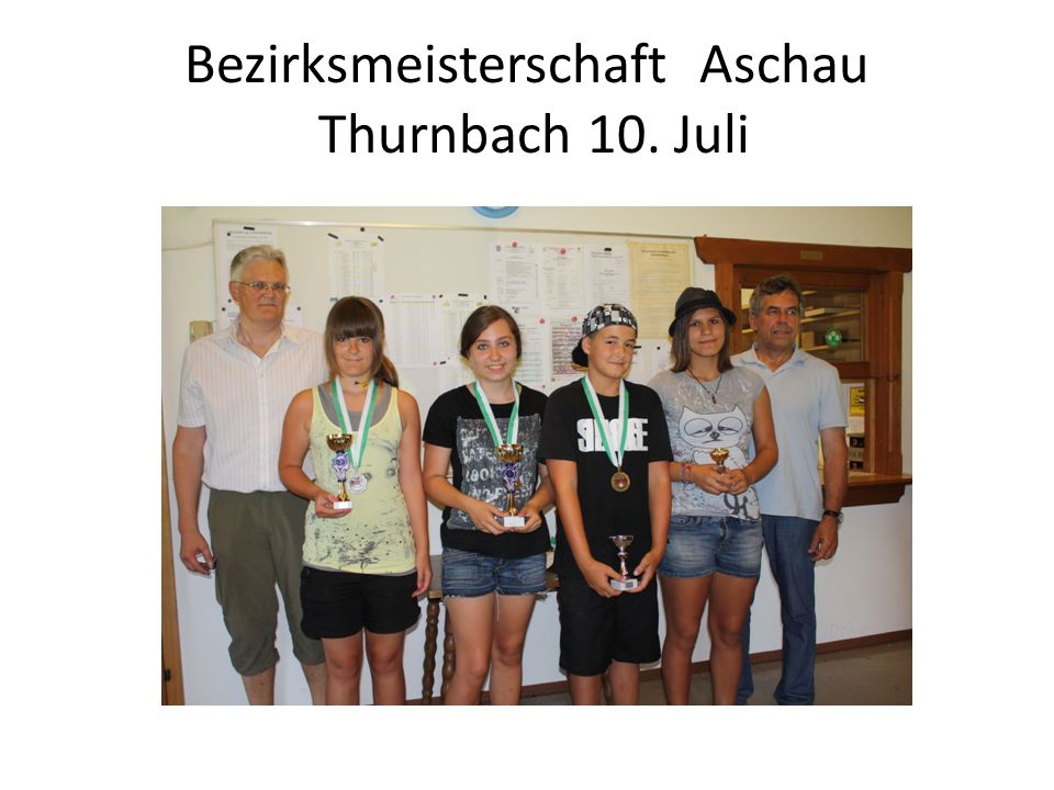 IWK Tirol Innsbruck 16.Juli Juniorinnen 60 liegend Juniorinnen 3x20 4.