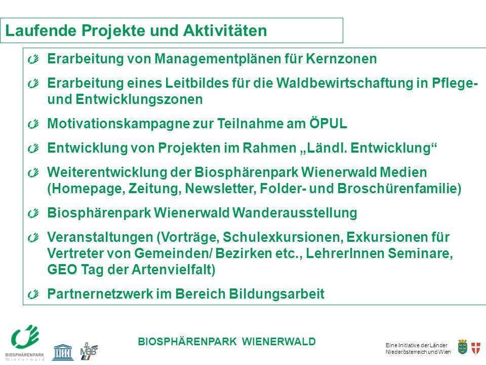 Eine Initiative der Länder Niederösterreich und Wien BIOSPHÄRENPARK WIENERWALD Erarbeitung von Managementplänen für Kernzonen Erarbeitung eines Leitbi