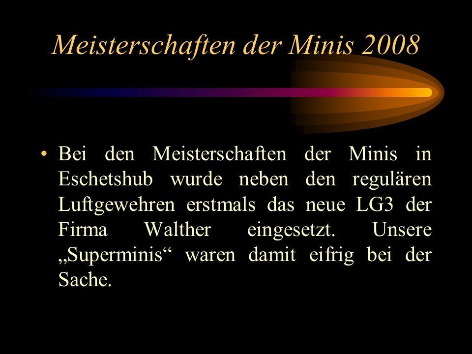 Meisterschaften der Minis 2008 Bei den Meisterschaften der Minis in Eschetshub wurde neben den regulären Luftgewehren erstmals das neue LG3 der Firma
