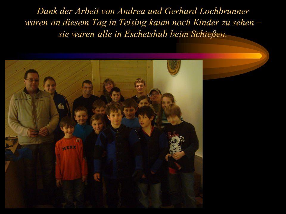 Dank der Arbeit von Andrea und Gerhard Lochbrunner waren an diesem Tag in Teising kaum noch Kinder zu sehen – sie waren alle in Eschetshub beim Schieß