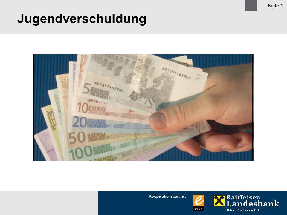Kooperationspartner: Seite 1 Jugendverschuldung