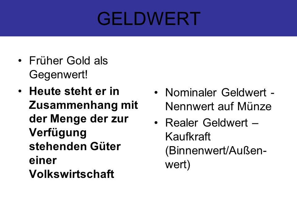 OFFENMARKTGESCHÄFT (in Form von Tendern) FAZILITÄTEN (Darlehens-, Kreditgeschäft) MINDESTRESERVE (bei ZB zu hinterlegen) ESZB = EZB +NZB EINHEITLICHE GELDPOLITIK DES EUROPÄISCHEN SYSTEMS DER ZENTRALBANKEN Legende: EZB= Europäische Zentralbank NZB= Nationale Zentralbanken Anmerkung: NZB die nicht am Euro-Raum teilnehmen, haben bei Entscheidungen für den Euro- Raum kein Mitwirkungsrecht.