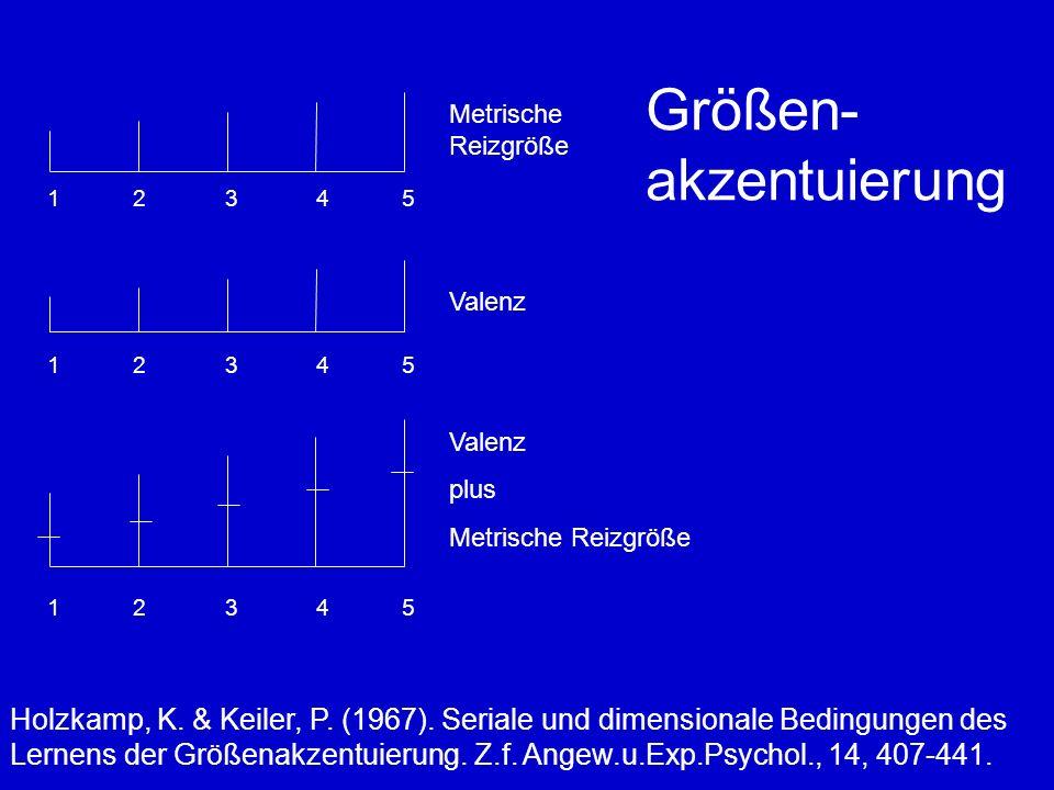 Größen- akzentuierung Holzkamp, K.& Keiler, P. (1967).