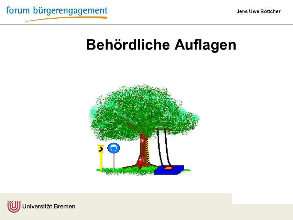 Jens Uwe Böttcher Behördliche Auflagen