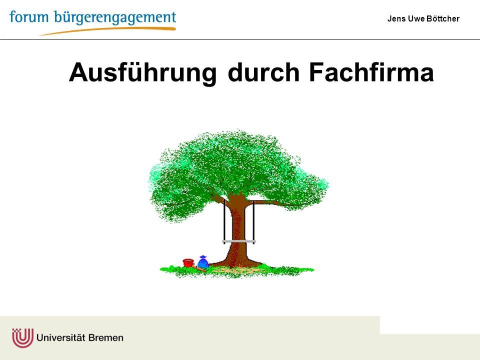 Jens Uwe Böttcher Ausführung durch Fachfirma