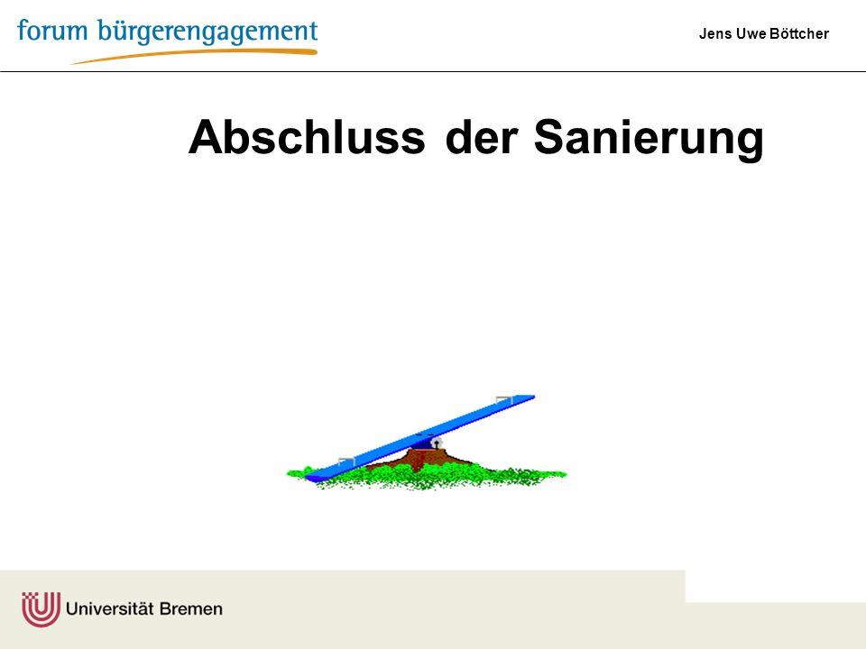 Jens Uwe Böttcher Abschluss der Sanierung