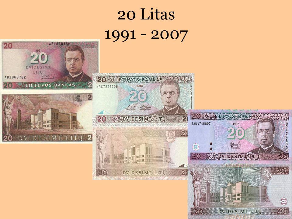 20 Litas 1991 - 2007